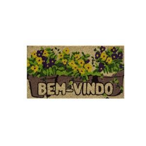 Capacho Fibra de Coco 0.75 x 0.45cm Estampado Retangular - Bella Casa