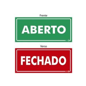 Placa Aberto/Fechado Ps507 - Encartale