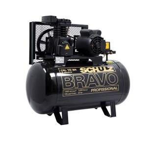 Compressor de Ar Baixa pressão 10 Pés 100L Trifásico - CSL 10BR/100 - Bravo - Schulz