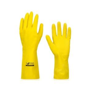 Luva Multiuso Látex Standard Amarelo com Forro EG - Volk