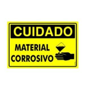 Placa Atenção Material Corrosivo Pr2021 - Encartale