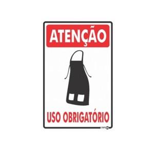 Placa Atenção Uso Obrigatório de Avental Ps653 - Encartale