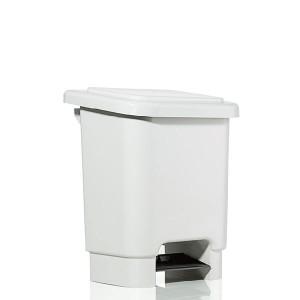 Cesto de Lixo 15 L Quad Pedal Branco