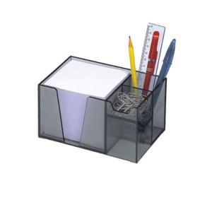 Organizador de Mesa Cristal c/ Papel Lembrete - Acrimet