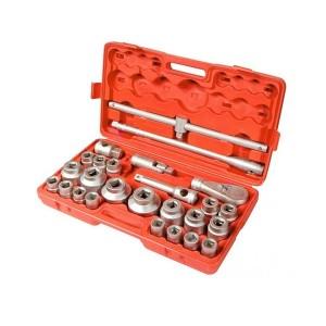 Jogo de Soquetes Estriado 21 a 62 mm de 3/4 Pol. com 26 Peças - MTX