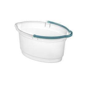 Balde 14L Plástico Oval Transparente - Sanremo