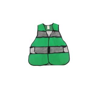 Colete Velcro de Tela Verde/Preto
