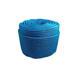Corda Polietileno Torcida 16mm Azul (Vendida por Kilo)
