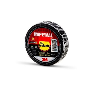 Fita Isolante Preta 18mm x 20 m Imperial - 3M