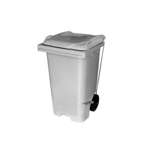 Cesto de Lixo 120 L com Tampa Roda Pedal