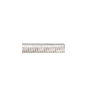 Mangueira PVC Atóxica Transparente 12.7mm 1/2 Pol c/Arame de Aço ( Vendida por Metro)