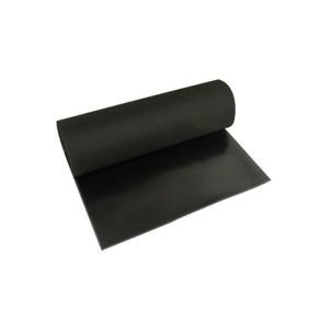 Lençol Borracha Natural 1.0mm x 1.40m s/ Lona Preto (VENDIDO POR METRO)