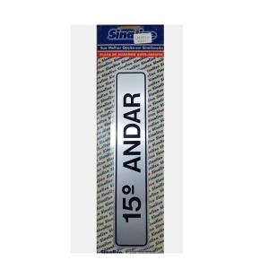 Placa Alumínio 15 Andar 5x25cm