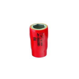 Soquete Sextavado 17mm Encaixe 1/2 Pol. VDE Isolado - Gedore