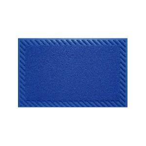 Tapete Capacho Vinil 0.60x 0.90cm - Azul - Bella Casa