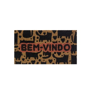 Capacho Fibra de Coco 0.60 x 0.33cm Estampado Retangular - Bella Casa