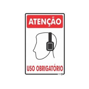 Placa Atenção Protetor de Ouvido Uso Obrigatório Ps82 - Encartale