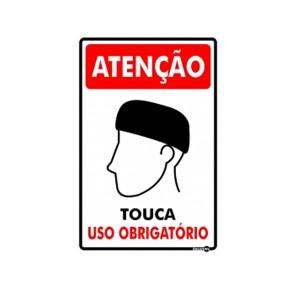 Placa Atenção Uso Obrigatório de Touca Ps785 - Encartale