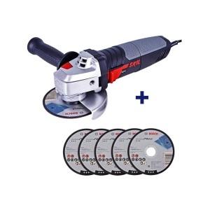 Esmerilhadeira Angular 4. 1/2 Pol. 830W 9004 com 5 Discos - Skil