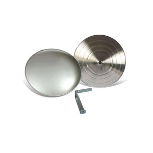 Espelho Convexo ø 80 cm Acabamento Alumínio - Vision