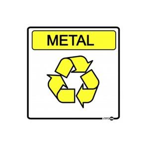 Adesivo Cesto de Lixo Material Lixo Reciclável Metal - Encartale