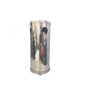 Bituqueira de Parede Aço Inox 15x10cm com Furos Laterais