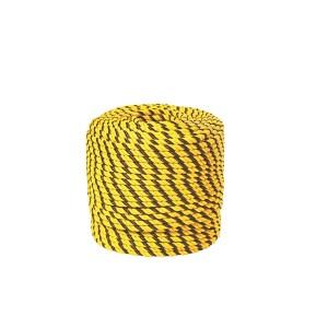 Corda Polietileno Torcida 8mm Amarelo/Preto (Vendida por Metro)