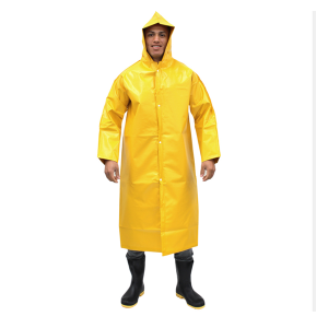 Capa Chuva G Amarela PVC For Ecopoli