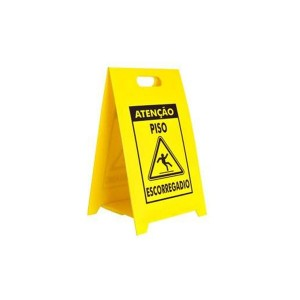 Placa Sinalizadora Dobrável / Cavalete de Atenção Piso Escorregadio