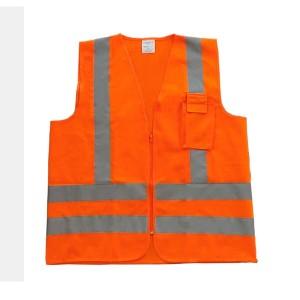 Colete Refletivo Blusão com 1 Bolso Laranja Fluorescente