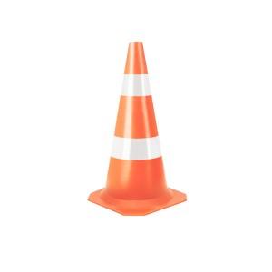 Cone Sinalização Flexível Refletivo 75cm Laranja/Branco