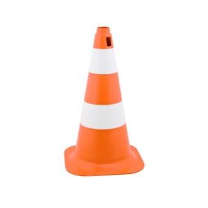 Cone Sinalização Rigido PVC 50cm Laranja/Branco