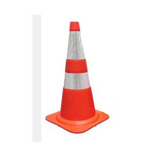 Cone Sinalização Refletivo 75cm Laranja/Branco