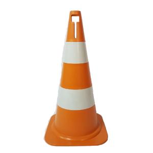 Cone Sinalização Rígido 50cm Laranja/Branco