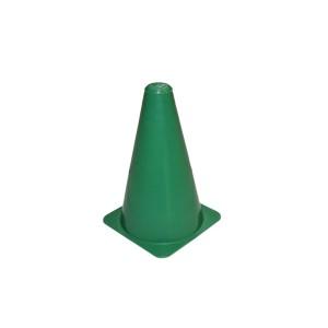 Cone Esportivo de Sinalização PVC Rígido Verde 20cm