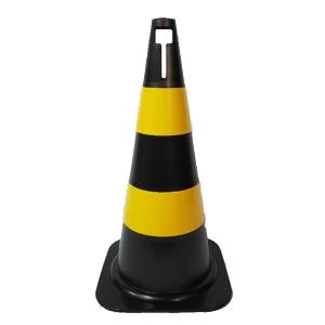 Cone Sinalização Rígido 50cm Amarelo/Preto