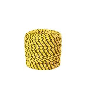 Corda Polietileno Torcida 18mm Preto/Amarelo (Vendida por Metro)