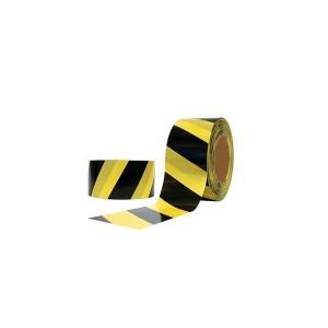 Fita Zebrada Amarela/Preta 70mm x 50m