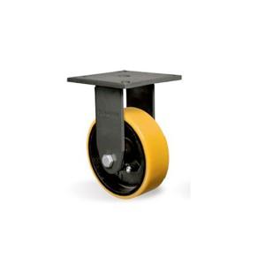 Rodízio 6 Pol. Amarela Placa Fixa Axial - Schioppa