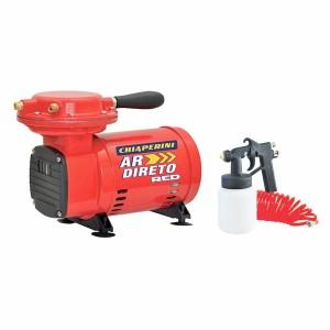 Compressor de Ar Direto Red 2,3 Pés 40PSI Mono Bivolt com Pistola e Mangueira - Chiaperini