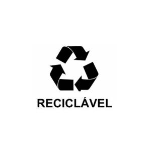 Adesivo Cesto de Lixo Recicláveis (Letra Preta)