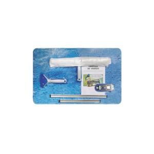 Mini Kit Limpeza de Vidros com 5 Peças - Bralimpia