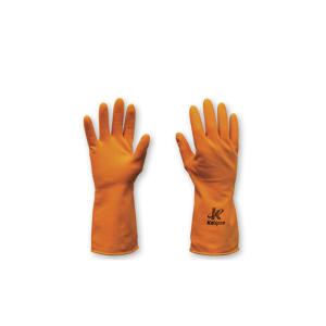 Luva em Algodão c/ Latex Orange (3) Tamanho G - Kalipso
