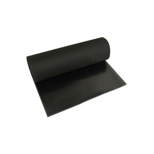 Lençol Borracha Natural 1.6mm x 1.00m c/ 1 Lona Preto (VENDIDO POR METRO)