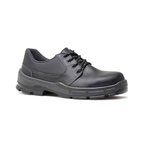Sapato PU Amarrar com Bico Preto - Bracol