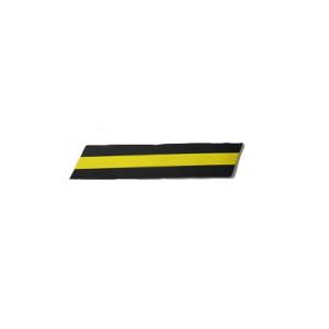 Protetor de Parachoque Parede Amarelo/Preto 600x150x10mm