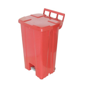 Cesto de Lixo 100 L Quadrado com Roda e Pedal